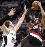 116-92. Los Spurs fueron muy superiores a los Trail Blazers