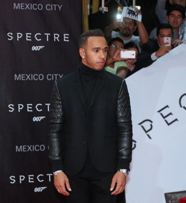 """Hamilton se divierte en Ciudad de México y asiste al estreno de """"Spectre"""""""