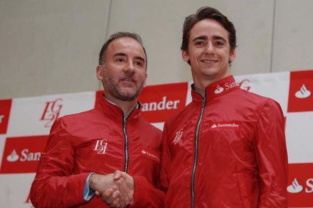 Esteban Gutiérrez es presentado como embajador del banco Santander en el mundo del automovilismo