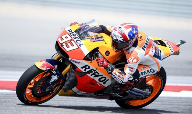 Márquez ya es sólido líder en MotoGP aunque su Honda no va como quiere