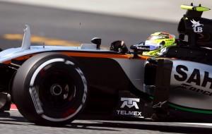 """Sergio Pérez celebra el """"paso adelante"""" en la calificación del GP de España"""