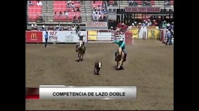 VIDEO: Competencia de lazo doble en el rodeo de Salinas