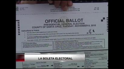 VIDEO: La boleta electoral para las elecciones del 8 de noviembre