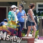 """EXCLUSIVE Maria Conchita Alonso Has A """"Wardrobe Malfunction"""" While Trying on a Dress"""